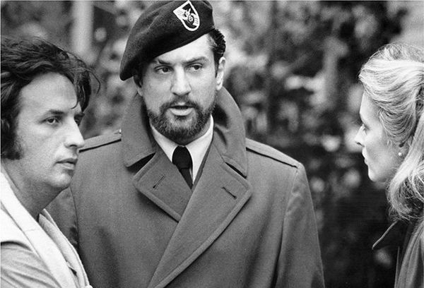 Michael Cimino and Robert De Niro on the set of The Deer Hunter.