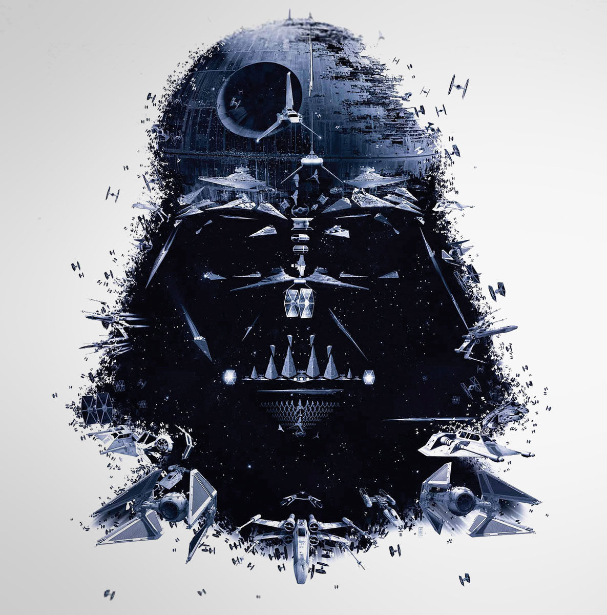 Star Wars Identities The Exhibition- Darth Vader/space crafts poster